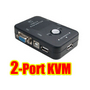 2Port USB 2.0 KVM VGA Switch Box Keyboard Mouse Monitor
