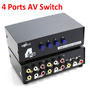 4 Port Input 1 Output Video Audio AV RCA Switch Switcher Selector Box