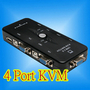 4 PORT USB 2.0 KVM KEYBOARD MONITOR VGA/SVGA SWITCH BOX