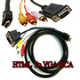 5 FT HDTV HDMI to VGA HD15 3 RCA Adapter Cable 5ft 1.5M