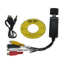 USB 2.0 to 3 RCA Audio S-Video TV DVD VHS RW Capture Converter Adapter Cable