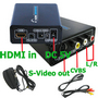HDMI to Video/S-video+Audio Converter Adapter DVD/PS3