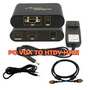 VGA to HDTV HDMI Converter Box+ HDMI Cable+ 3.5mm Audio