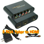 Ypbpr 5 RCA Component to HDMI Converter Adapter + Cable
