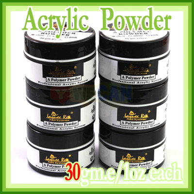 6x all clear polymer nail art acrylic powder for acrylic
