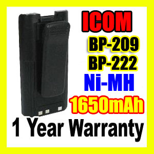 ICOM BP-209,ICOM BP-209 Two Way Radio Battery