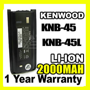 2 x 7.4V 2000mAh Li-ion KNB-45L Battery for KENWOOD TK-2202E TK-3302E3 TK-3306M3