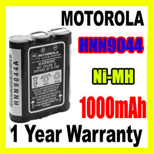 2 Pack 1000mAh 7.2V NI-MH Replacement for Motorola Spirit MU24CVS Battery Compatible with Motorola HNN9044A Two-Way Radio Battery