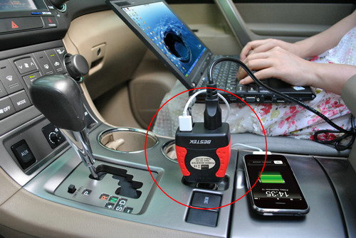 Dc Ac 75w Car Power Inverter Laptop Adapter Iphone