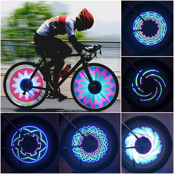 light up motorcycle wheels 16 led car motorcycle cycling bike bicycle tire wheel valve